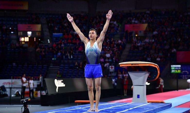 Единственный казахстанский гимнаст завершил выступление на ЧМ в Штутгарте